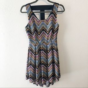 Alice Moon boho high low dress strappy back small